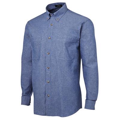 JBs L/S Cotton Chambray Shirt (4CUL-S-4XL_JBS)