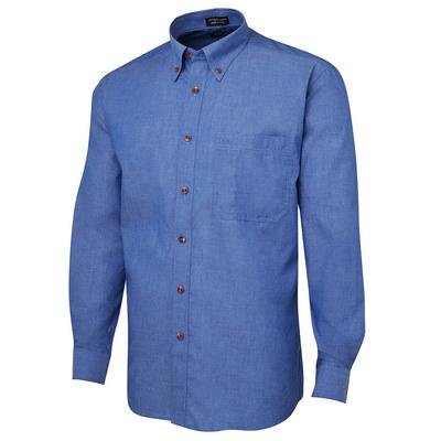 JBs L/S Indigo Chambray Shirt (4IC-S-5XL_JBS)
