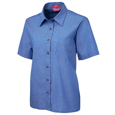 JBs Ladies Original S/S Inidigo Chambray Shirt (4LICS-06-24_JBS)