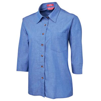 JBs Ladies Original 3/4 Indigo Chambray Shirt (4LICT-06-24_JBS)