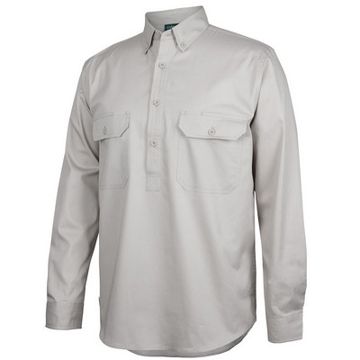 C Of C Longreach LS Close Front Shirt  (4LLC_JBS)