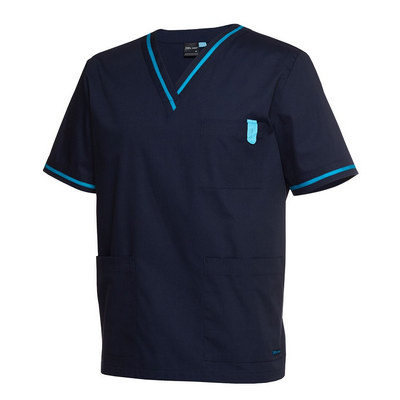 JBs Contrast Scrubs Top
