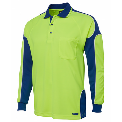 JBs Hi Vis L/S Arm Panel Polo (6AP4L-XS-5XL_JBS)