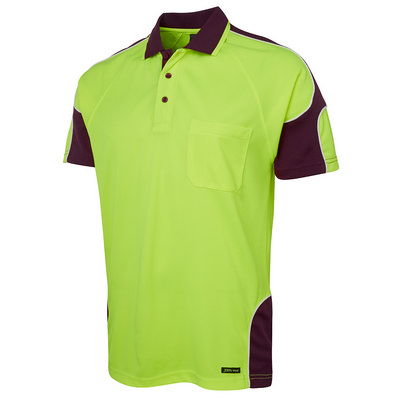 JBs Hi Vis S/S Arm Panel Polo (6AP4S-XS-5XL_JBS)