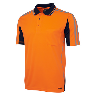 JBs Hi Vis S/S Arm Tape Polo (6AT4S-XS-5XL_JBS)
