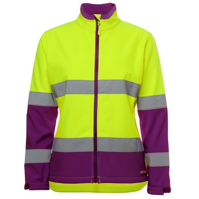 JBs Ladies Hi Vis D+N Water Resistant Softshell Jacket (6DWJ1-8-24_JBS)