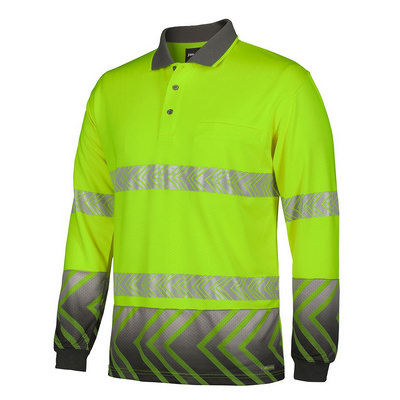 JBs L/S Arrow Sub Polo With Segmented Tape (6HAL-XS-5XL_JBS)