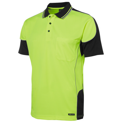 JBs Hi Vis Contrast Piping Polo (6HCP4-S-5XL_JBS)