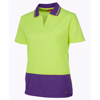 JBs Hi Vis Ladies S/S Non Button Polo (6HNB1-08-24_JBS)