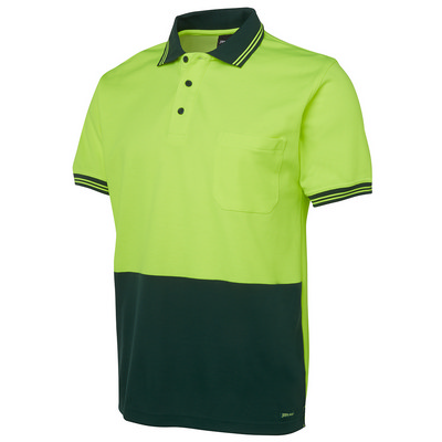 JBs Hi Vis S/S Cotton Back Polo (6HPS-XS-5XL_JBS)
