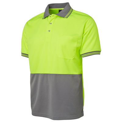 JBs Hi Vis S/S Traditional Polo (6HVPS-XS-5XL_JBS)