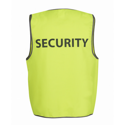 JBs Hv Safety Vest Print Security  (6HVS5_JBS)