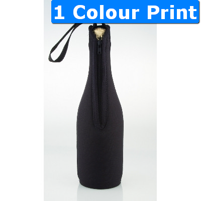 Zip up cooler champagne bottle
