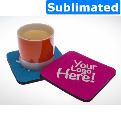 Neoprene coaster - Sublimation - (printed with 1 colour(s)) 015_SUB_ABA