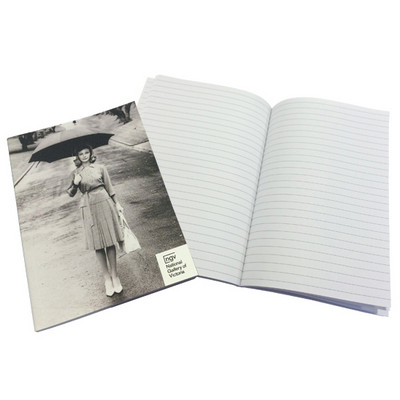 A5 50 L Books PUR 1c (black only) PU cover with end paper