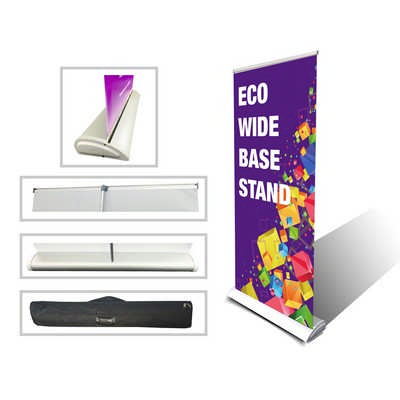 Wide Base Roll up Banner Stand 850x2020mm