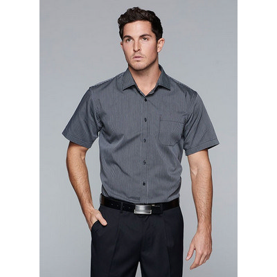 Aussie Pacific Mens Henley Striped Short Sleeve Shirt