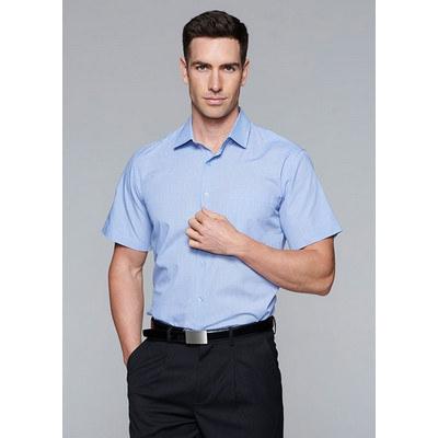 Aussie Pacific Mens Grange MiTong Check Short Sleeve Shirt