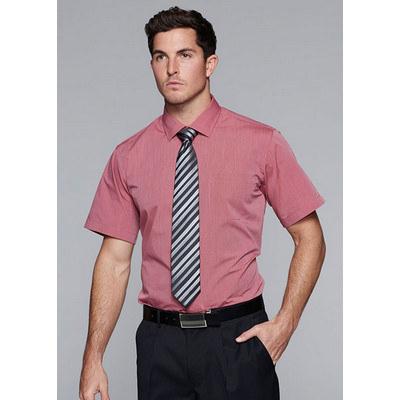 Aussie Pacific Mens Belair MiTong Stripe Short Sleeve Shirt
