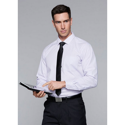 Aussie Pacific Mens Bayview Wide Stripe Long Sleeve Shirt