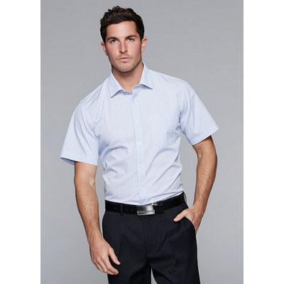Aussie Pacific Mens Bayview Wide Stripe Short Sleeve Shirt