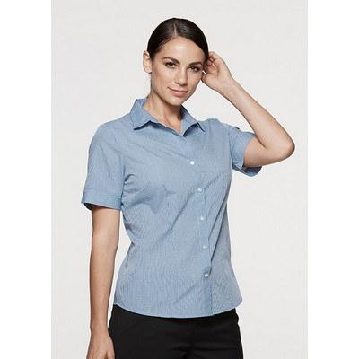 Aussie Pacific Ladies Toorak Check Short Sleeve Shirt