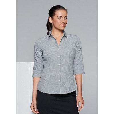 Aussie Pacific Ladies Toorak Check 3/4 Sleeve Shirt