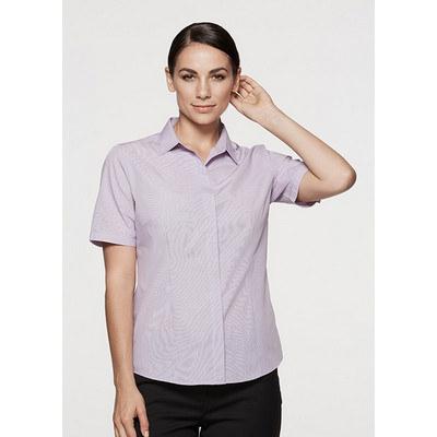Aussie Pacific Ladies Grange MiTong Check Short Sleeve Shirt