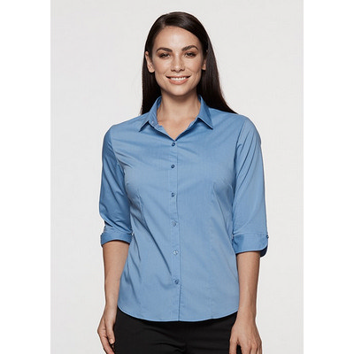 Aussie Pacific Ladies Mosman Stretch 3/4 Sleeve Shirt