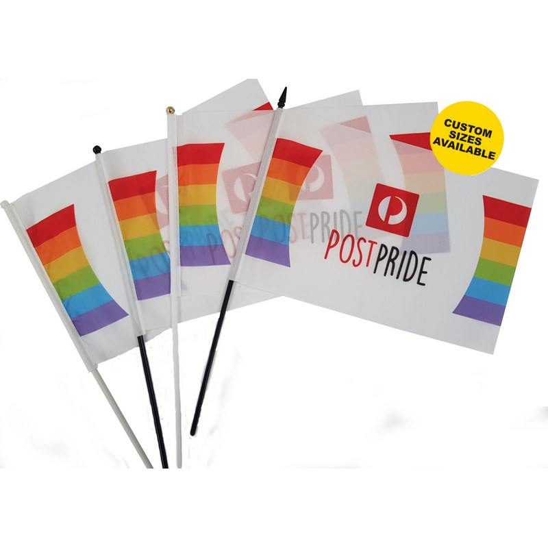 Polyester Hand Wave Flag - (printed with 4 colour(s))  (POL_HWF_BI)