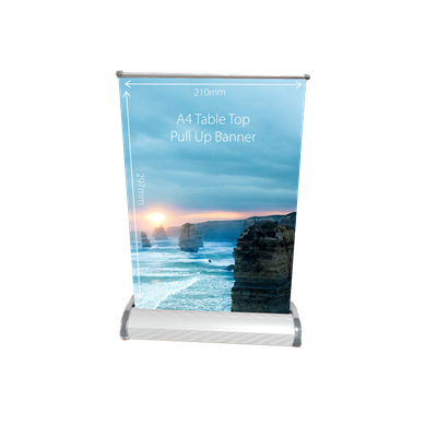 Table Top Pull Up Banner A4 - (printed with 4 colour(s)) TTPUBA4_BI