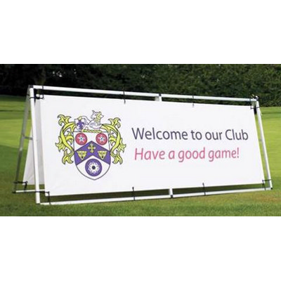 Double Sided Vinyl Banner with Aluminium Stand 850mm x 2000mm - (printed with 4 colour(s))