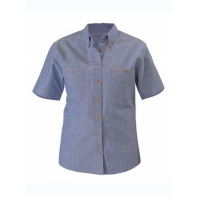 Bisley Womens Chambray Shirt -  Short Sleeve