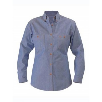 Bisley Womens Chambray Shirt  - Long Sleeve