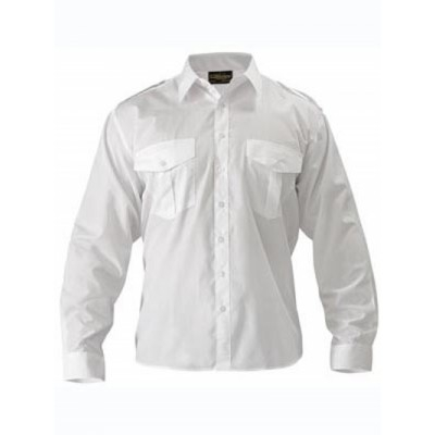 Bisley Epaulette Shirt - Long Sleeve