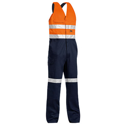 Bisley 3M Taped Two Tone Hi Vis Action Back Overall