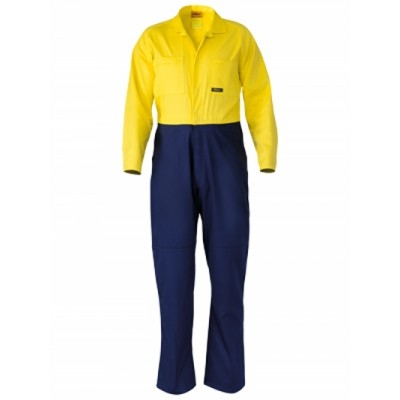 Bisley Two Tone Hi Vis Drill Coverall