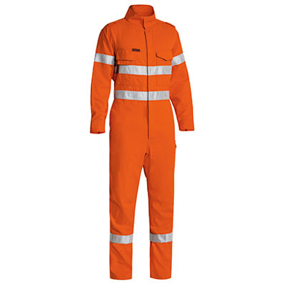 Bisley Tencate Flame Retardant Tecasafe Plus Taped Hi Vis Lightweight Fr Non Vented Engineered Coverall