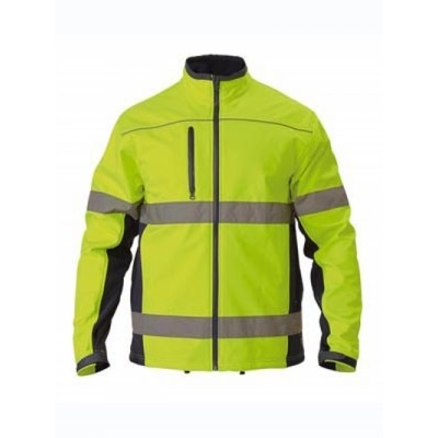 Bisley Taped Hi Vis Soft Shell Jacket
