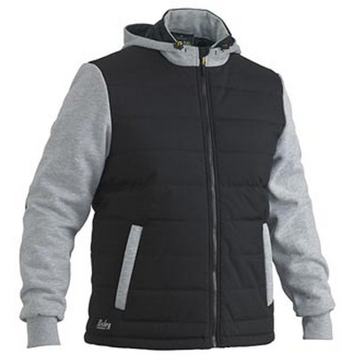 Bisley Flex & Move Contrast Puffer Fleece Hooded (BJ6944_BSY)