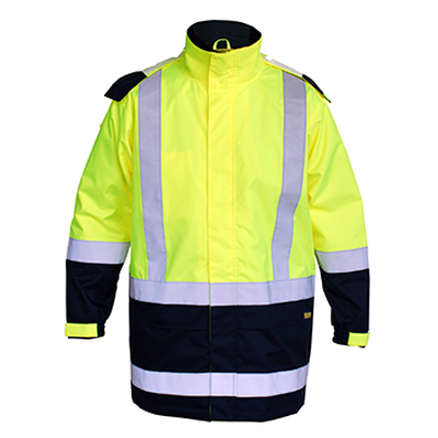 Bisley Taped Two Tone Hi Vis Rain Shell Jacket