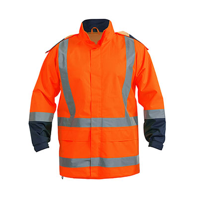 Bisley Taped Hi Vis Rain Shell Jacket