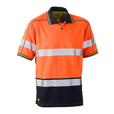 Bisley Taped Two Tone Hi Vis Polyester Mesh Short