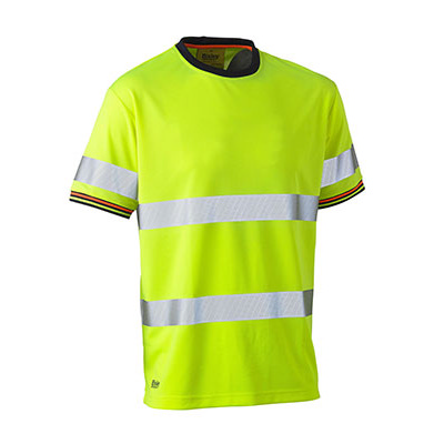 Bisley Taped Hi Vis Polyester Mesh Short Sleeve