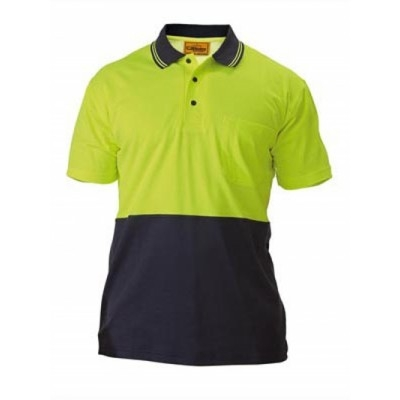 Bisley Two Tone Hi Vis Polo Shirt - Short Sleeve
