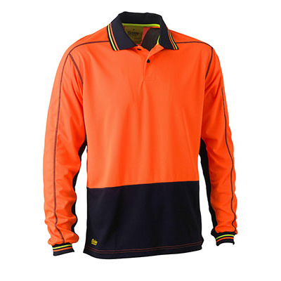 Bisley Two Tone Hi Vis Polyester Mesh Long Sleeve
