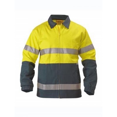 Bisley 3M Taped Two Tone Hi Vis Drill Jacket