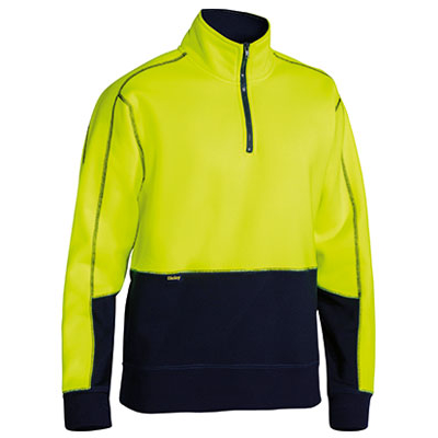 Bisley Hi Vis Fleece Zip Pullover