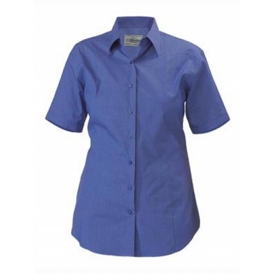 Bisley Womens Cross Dyed Shirt - Short Sleeve