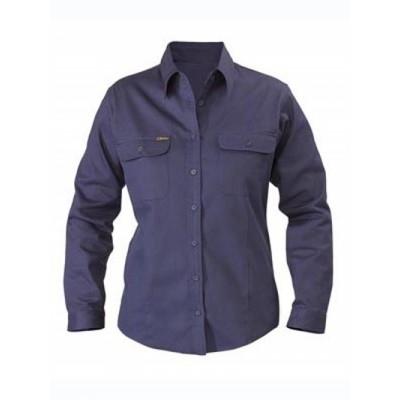Bisley Womens Drill Shirt - Long Sleeve